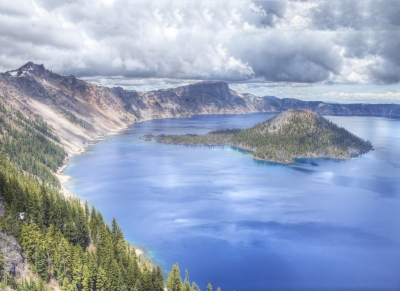 Clouds Rolling In On Crater Lake