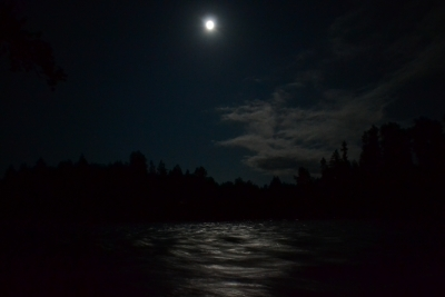 Full Moon On The Cowlitz River