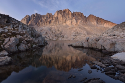 The Palisades Reflected In Barrett Lake
