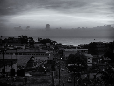 T&t Sunset 1 B&w