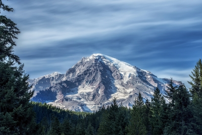 Mount Rainier From Longmire