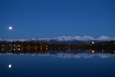 Moonrise Over The Chugach