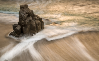 Rushing Tide At Lover's Point