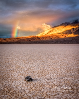 Death Valley Racetrack Rainbow