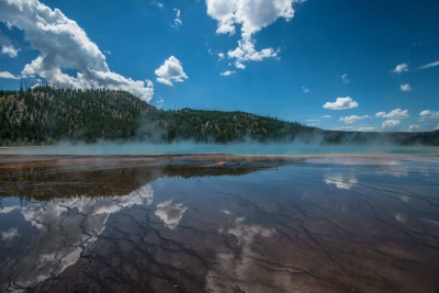 Grand Reflections, Grand Prismatic Geyser, Yellowstone National Park