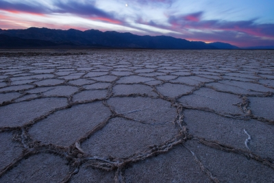 Moonset Over Badwater Basin