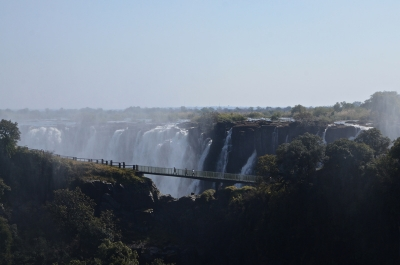 Victoria Falls As Seen From The Photographers Walk