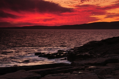 Sunset On The Schoodic Peninsula