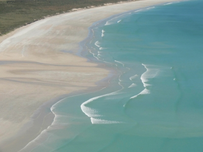Cable Beach In Western Australia Viewed From A Helicopter