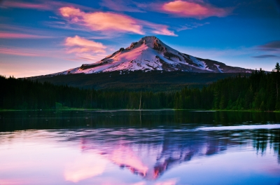 Evening Reflections On Trillium Lake
