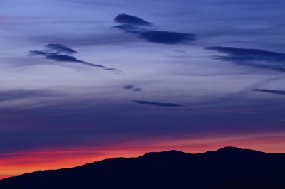 Twilight Over The Sawtooth Mts.