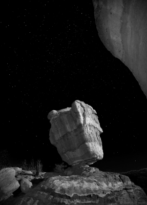Starry Night At Balanced Rock