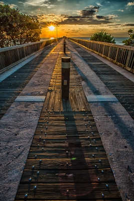 Deerfield Pier Sunrise