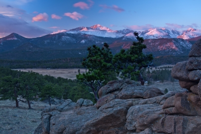 Sunrise Over Long's Peak