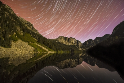 Star Trails Over Eaton Lake