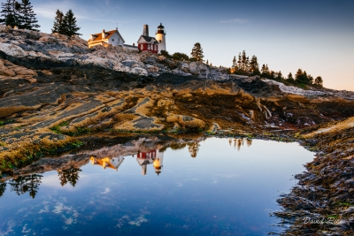 Reflection @ Pemaquid Point Lighthouse
