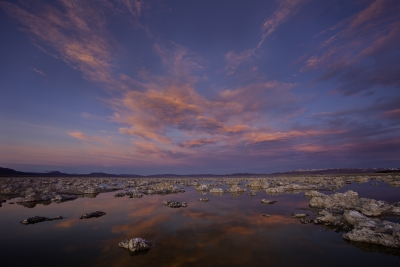 Mono Lake, Black Point Tufa Islands At Sunset
