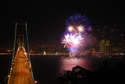 Bay Bridge New Years 2010
