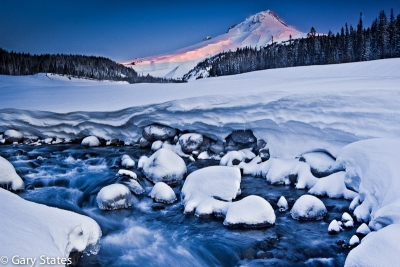 Mt Hood And White River Sunrise