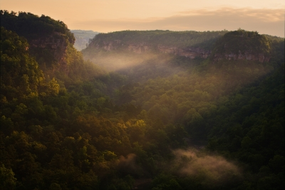 First Light At Little River Canyon