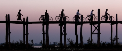 Crossing The Ubein Bridge