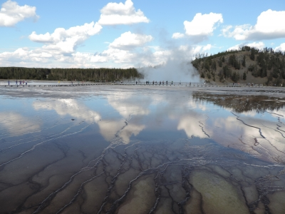 Midway Geyser Basin Reflection