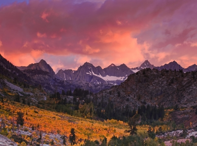 Fiery Sunset Over The Evolution Range