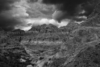 Storm Clouds Over The Blue Basin