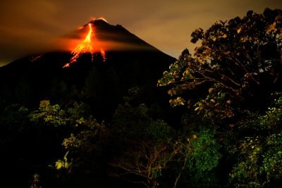 Arenal At Night