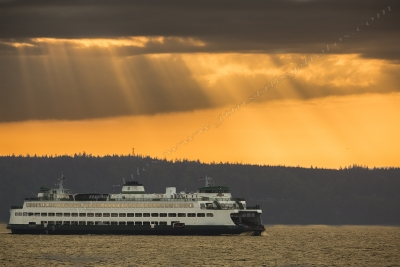 Sun Rays Over Puget Sound