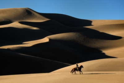 Dunes And Cowgirl