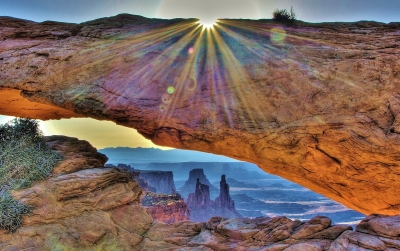 Sunburst Over Mesa Arch