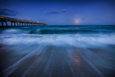 Moonrise At The Pier