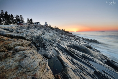Sunrise At Pemaquid Point Lighthouse