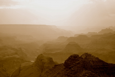 Haze Over The Canyon