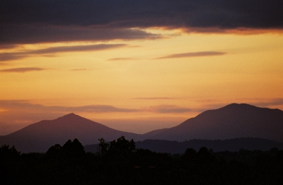 Sunset Over The Peaks Of Otter