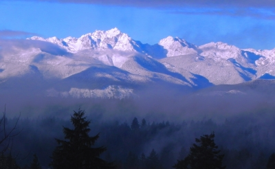 Olympic Mts. Dec Early Morning