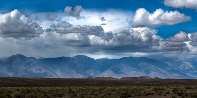 Death Valley Layered Clouds And Mountains