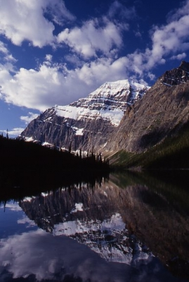 Mount Edith Cavell And Cavell Lake
