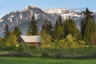 Farm Near Haystack Mountain