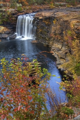 Autumn Afternoon At Little River Falls