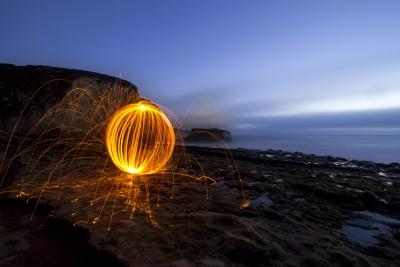 Davenport Beach And Fire Orb