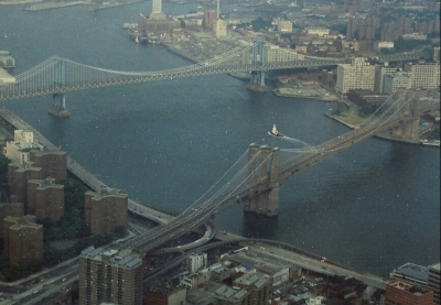East River From Twin Towers, Manhattan