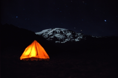 Snow Of Kilimanjaro In The Moonlight
