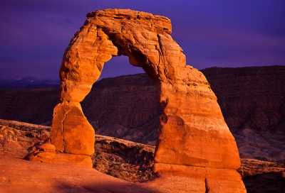 Stormy Sunset Over Delicate Arch