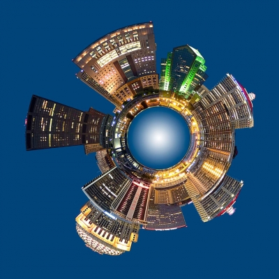 Circular Panoramic Of The Louisville Skyline Outer