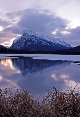 Early Winter At Rundle Mtn.