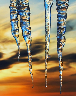 Sunrise Icicles