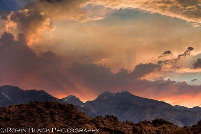 Monsoon Sunset Over Mt. Williamson (eastern Sierra Nevada)