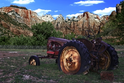 Tractor In Zion